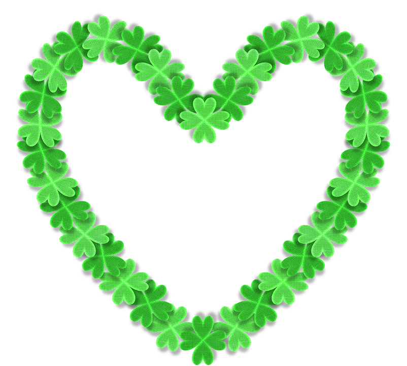 Love, 3d Heart, Shamrock, Clover, St Patrick's Day