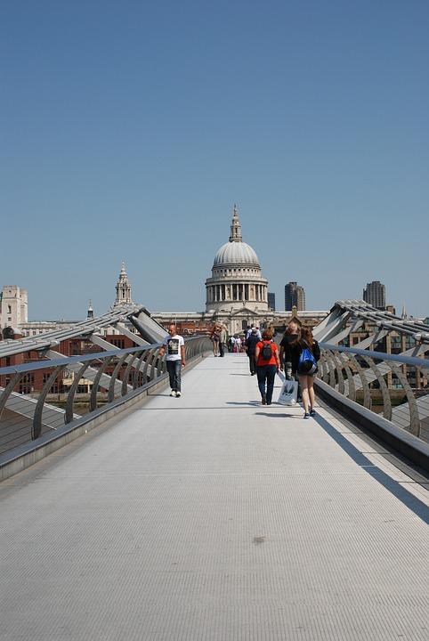 Millennium Bridge, St Paul's Cathedral, Temple St, Paul