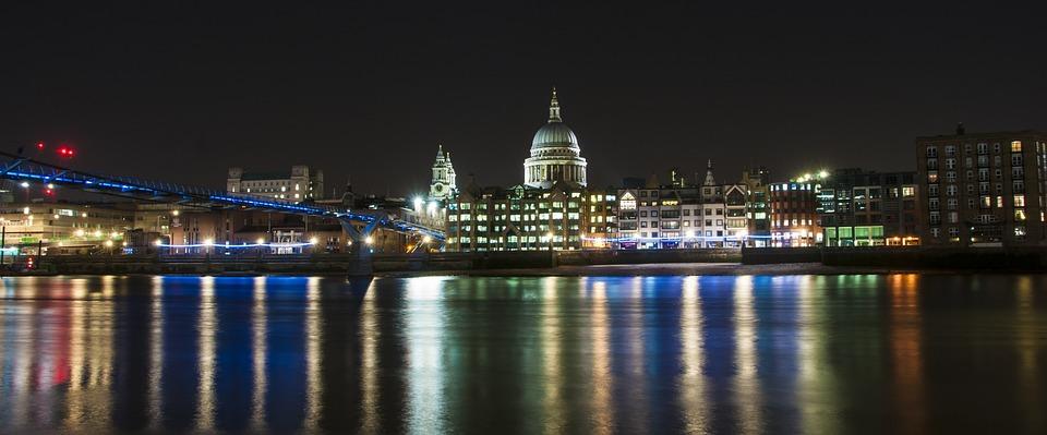 St Pauls, Night, City, Architecture, Landmark, Travel
