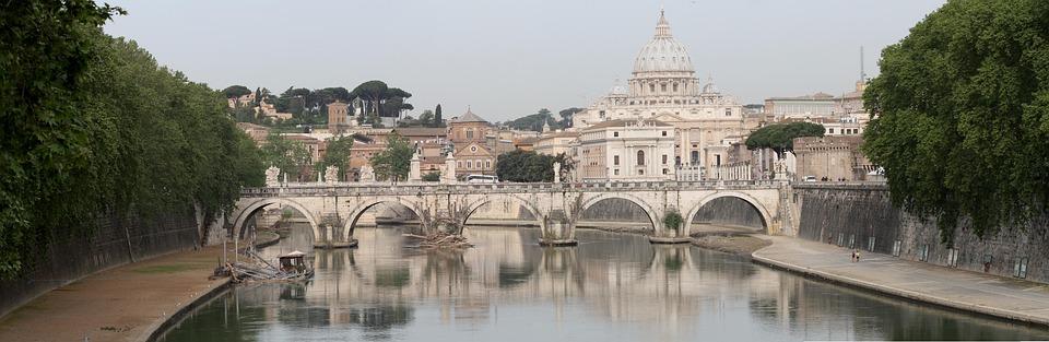 Rome, Tiber, St Peter's Basilica
