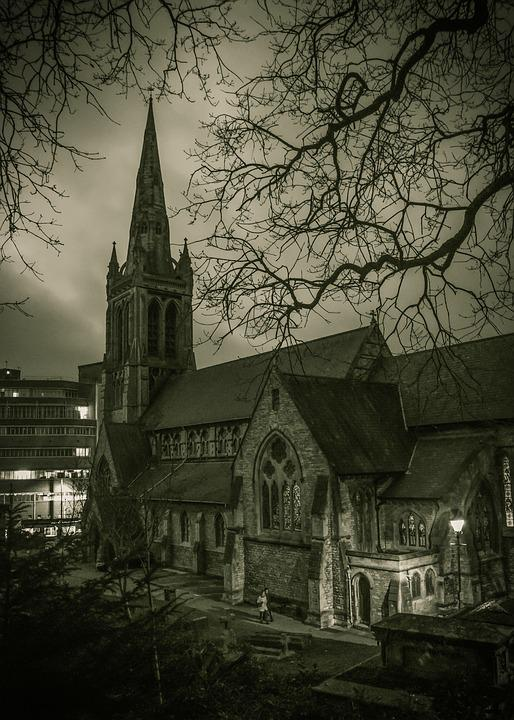 St Peter's Church, Night, Bournemouth, Architecture