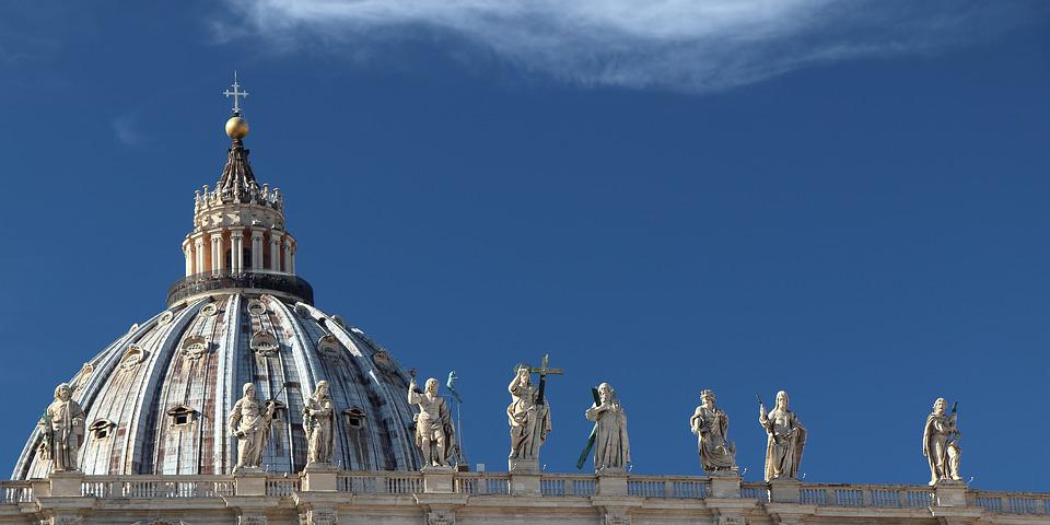 Rome, The Vatican, Dome, St Peter's Church