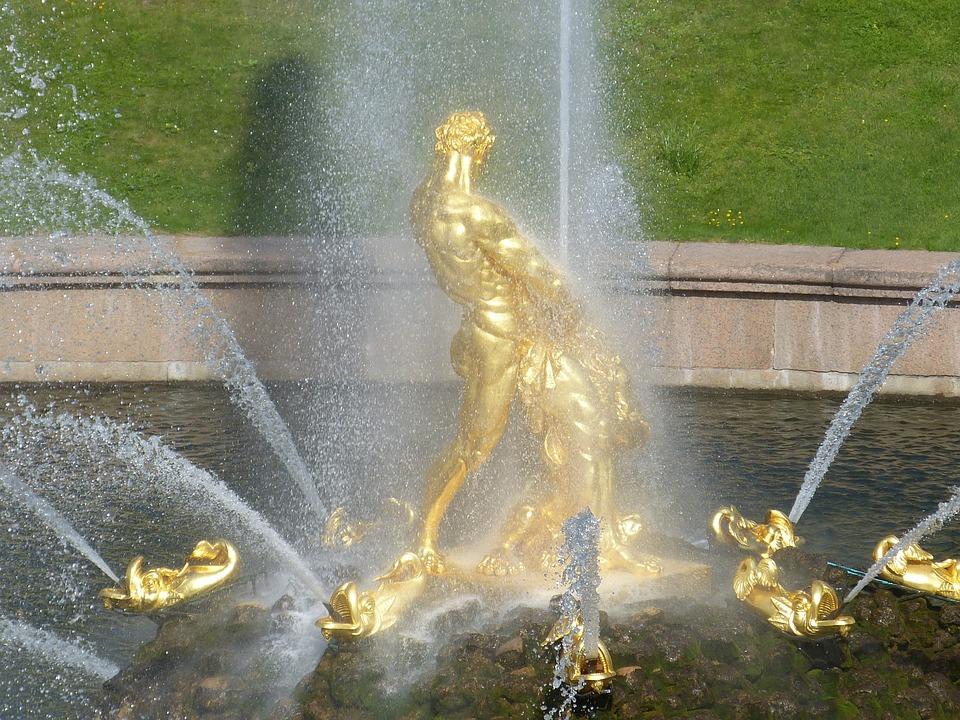 St Petersburg, Russia, Palace, Sankt Petersburg, Gold