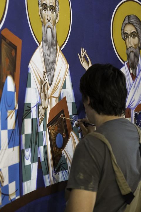 Belgrade, Serbia, St Sava Chapel, Icon Painting, Artist