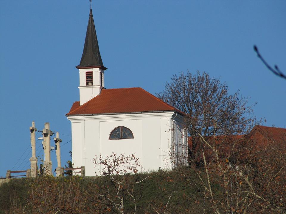 Church, Cross, Blue, Chapel, St Thomas Mount, Sky