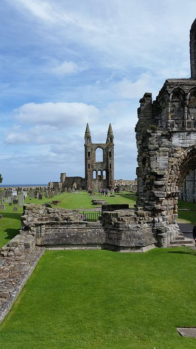 Cathedral, St, Andrews, Scotland, Travel