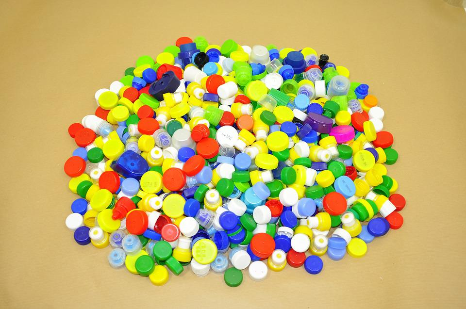 Caps, Material, Recycling, Nuts, Stack, Colorful