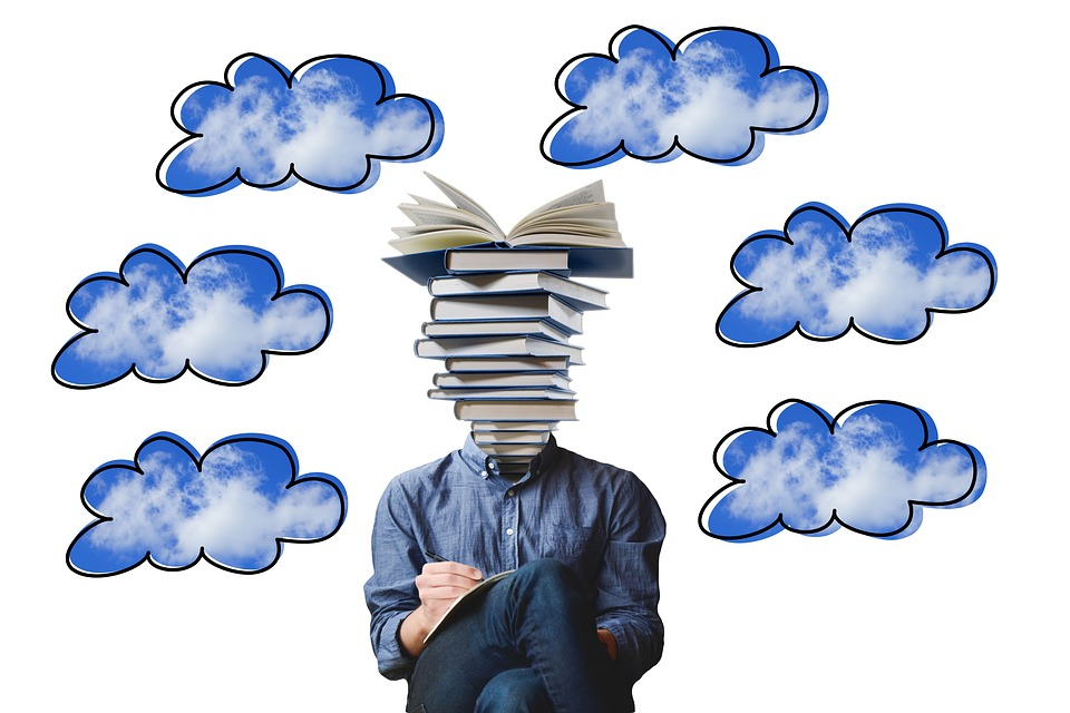 Freelancer, Businessman, Man, Person, Books, Stack