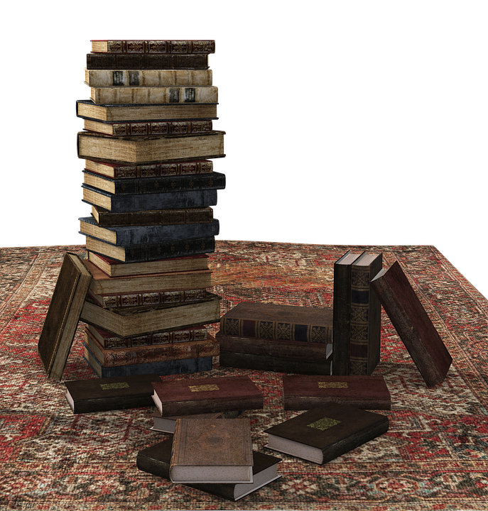 Book, Book Stack, Carpet, Stacked, Books, Literature