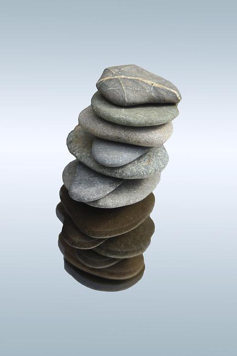 Stones, Balance, Meditation, Tower, Stacked, Isolated