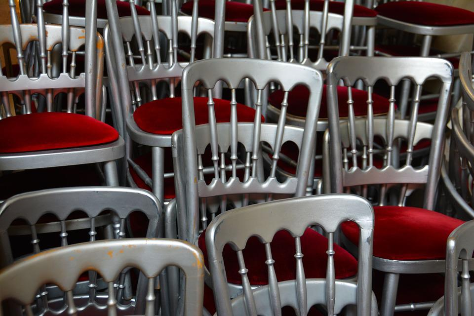Seats, Stacked, Seating, Chairs, Stack, Pile, Rows