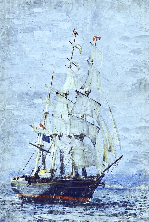 Clipper Ship, Three Masted, Sails, Stad Amsterdam, Fast