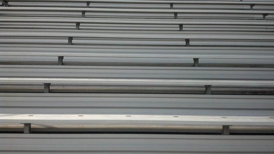 Aluminum, Bleachers, Seating, Stadium, Sport, Sports