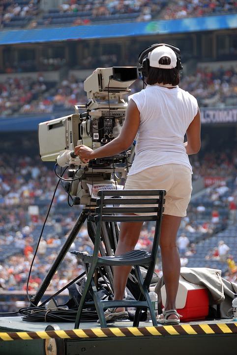 Camera Woman, Female, Video, Ball Game, Stadium Event