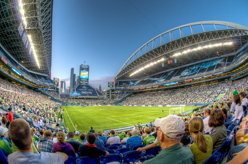Stadium, Bleachers, Seattle, Qwest Field, Audience