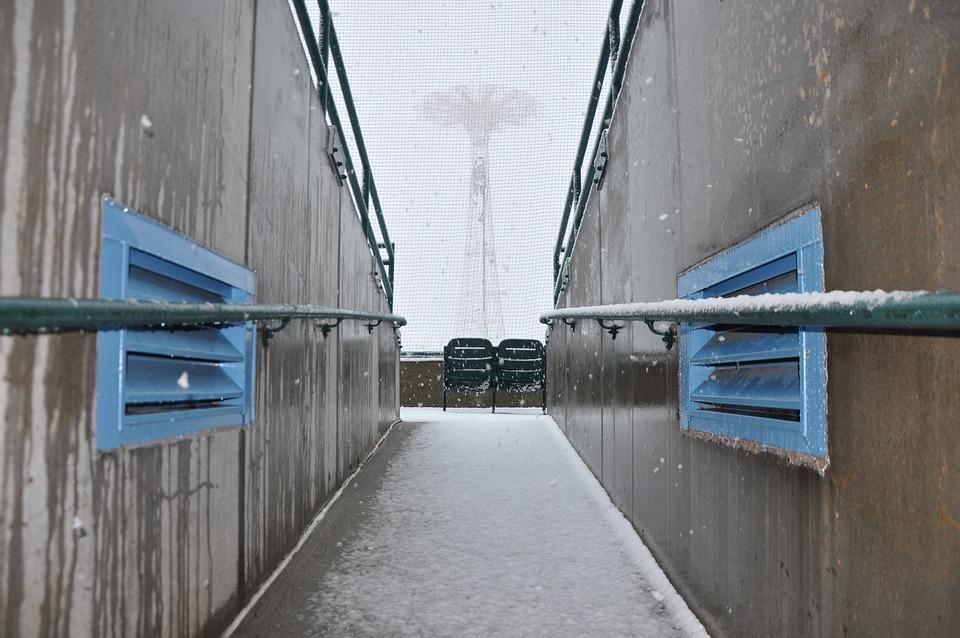 Snow, Stadium, Ballpark