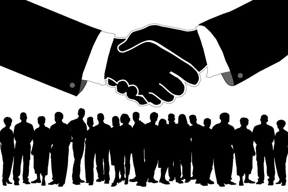Staff, Team, Shaking Hands, Handshake, Teamwork