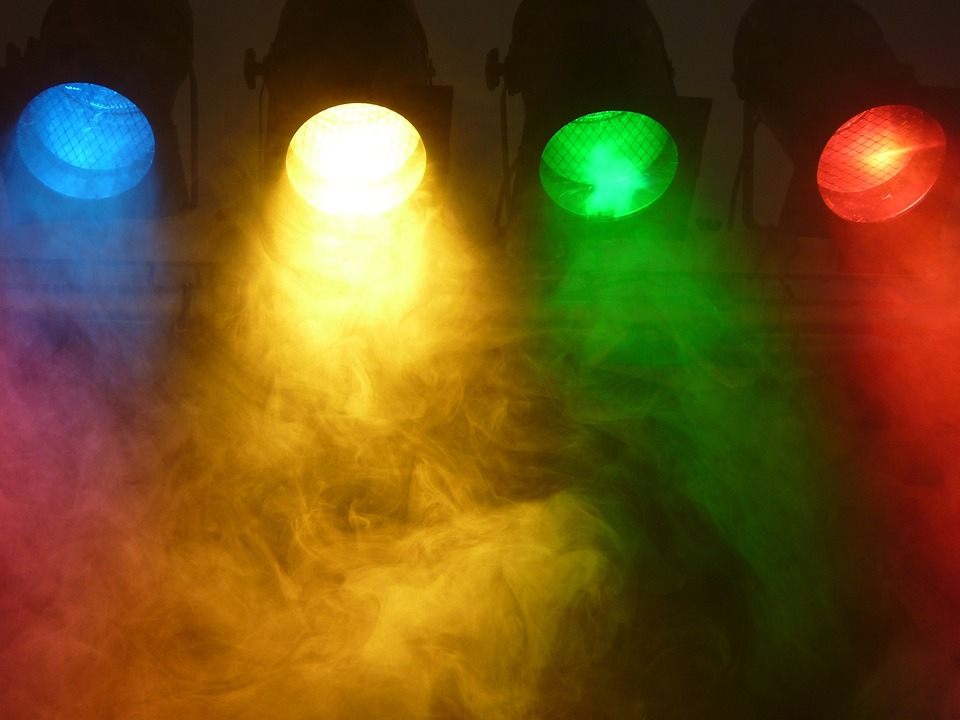 Spotlight, Fog, Stage, Technology, Light, Event