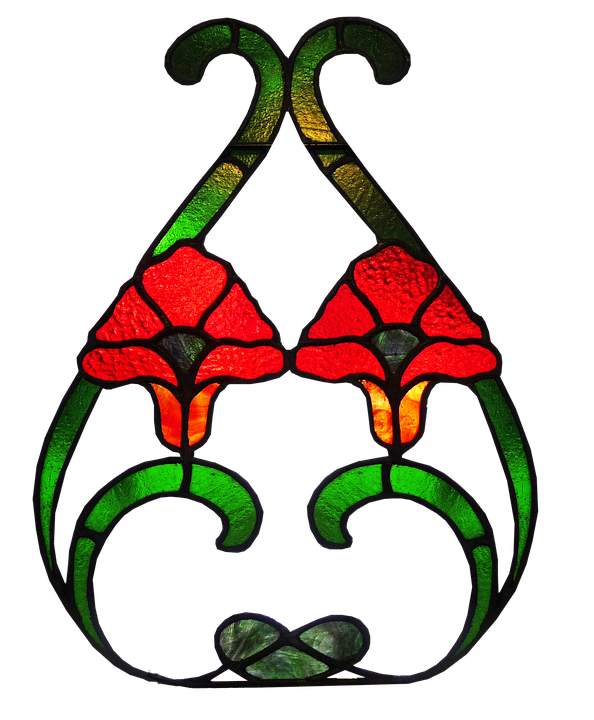 Stained Glass, Antique, Pattern, Ut Out