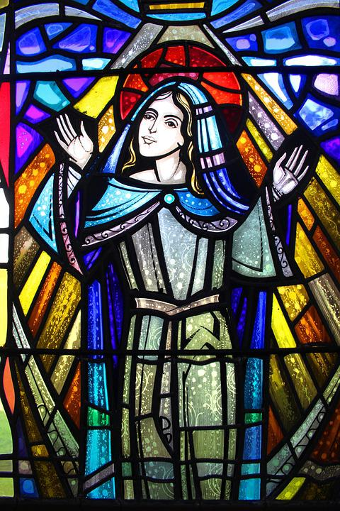 Stained Glass, Church Window, Colored Glass, Glass