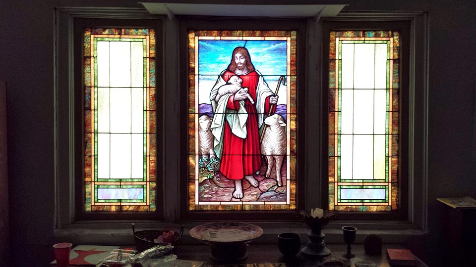 Stained Glass, Jesus, Light