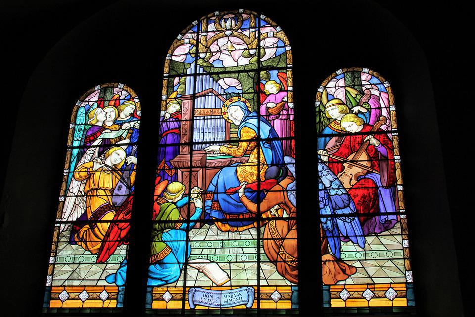 Saint-michel, Stained Glass, Organ, Church