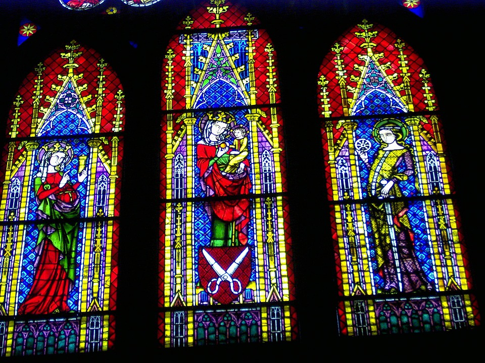 Stained Glass Window, Church Window, Stained Glass