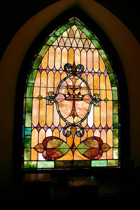 Church, Stained Glass, Window