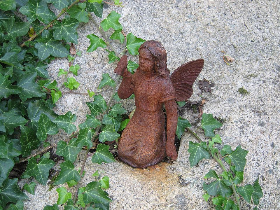 Decoration, Angel, Iron, Stainless, Fig