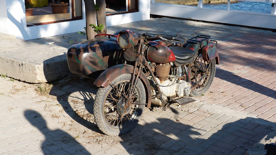Moto Bike, Old, Stainless, Verrosted, Turkey