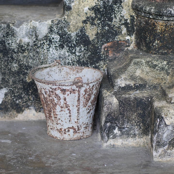 Bucket, Stainless, Rusty, Temple, Old, Rusted, Burma
