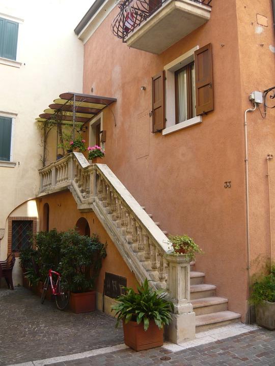 Italy, Italian, City, Stair, House