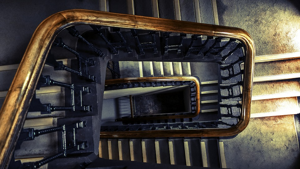 Stairs, Architecture, Indoors, Perspective, Staircase