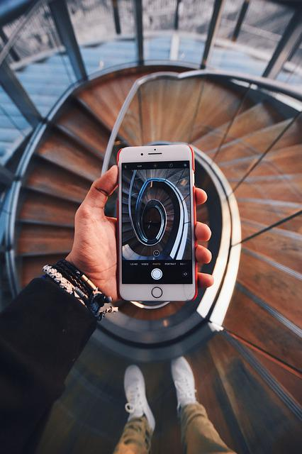 Phone, Staircase, Building, Stairs, Architecture