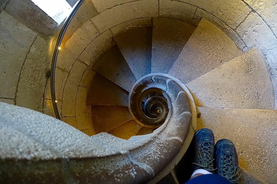 Spiral, Stairs, Staircase, Stairway, Circular, Stone