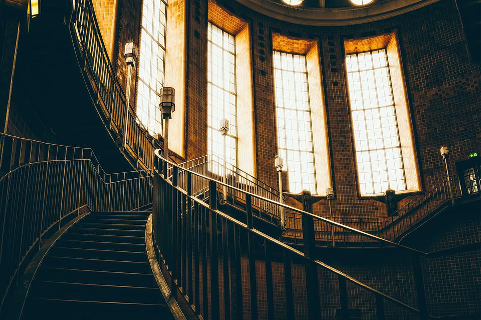 Staircase, Stairs, Railing, Interior, Emergence