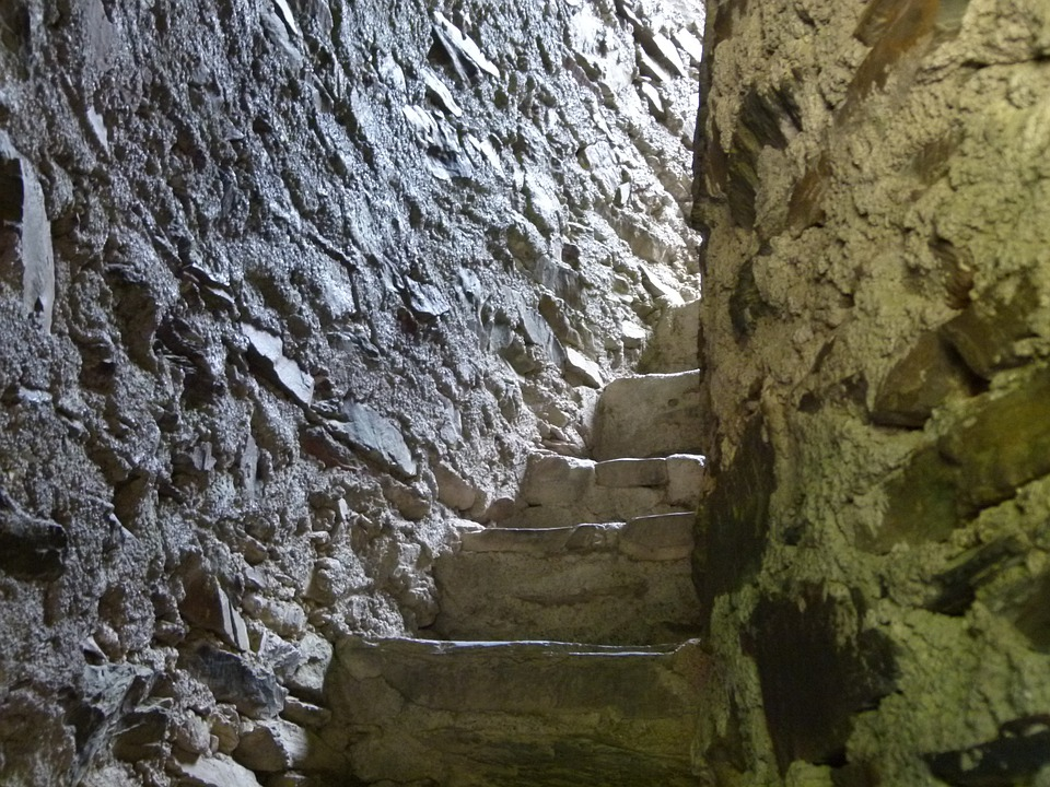 Steps, Stairs, Castle, Staircase, Stairway, Stairwell