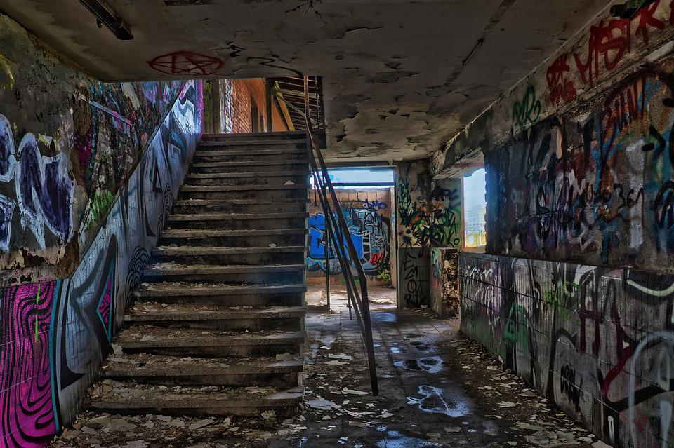 Leave, Architecture, Old, Ruin, Stairs, Staircase