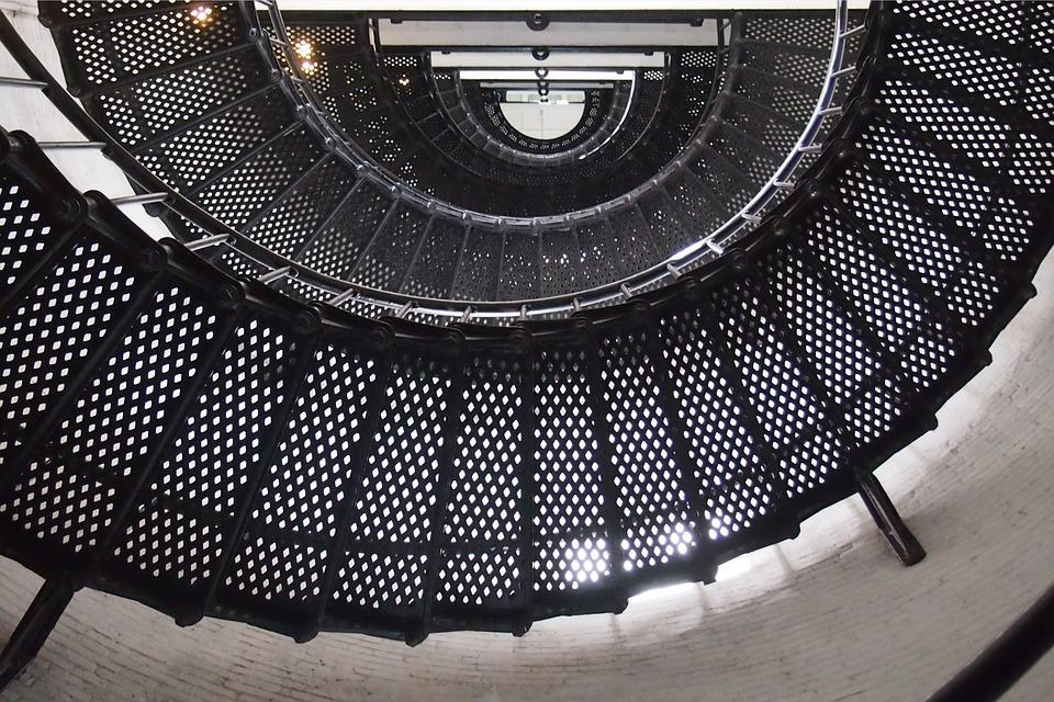 Spiral Staircase, Stairs, Lighthouse, Building