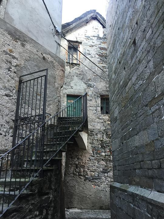House, Stairs, Stone, Isola San Giulio, Island