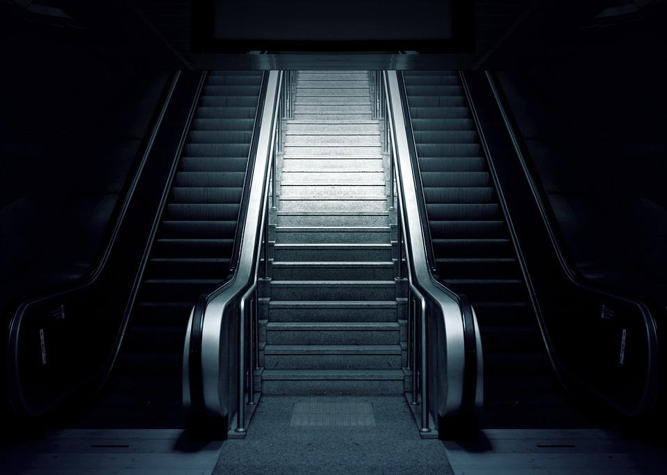 Escalator, Metro, Stairs, Subway, Urban, Station