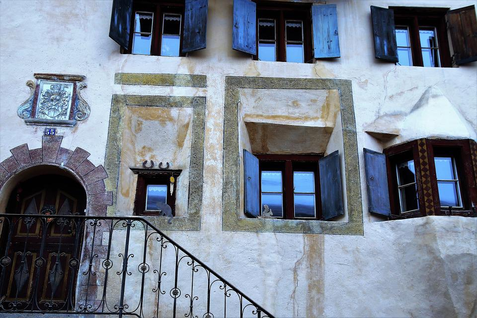 Stairs, Architecture, Window, House, Building, Old