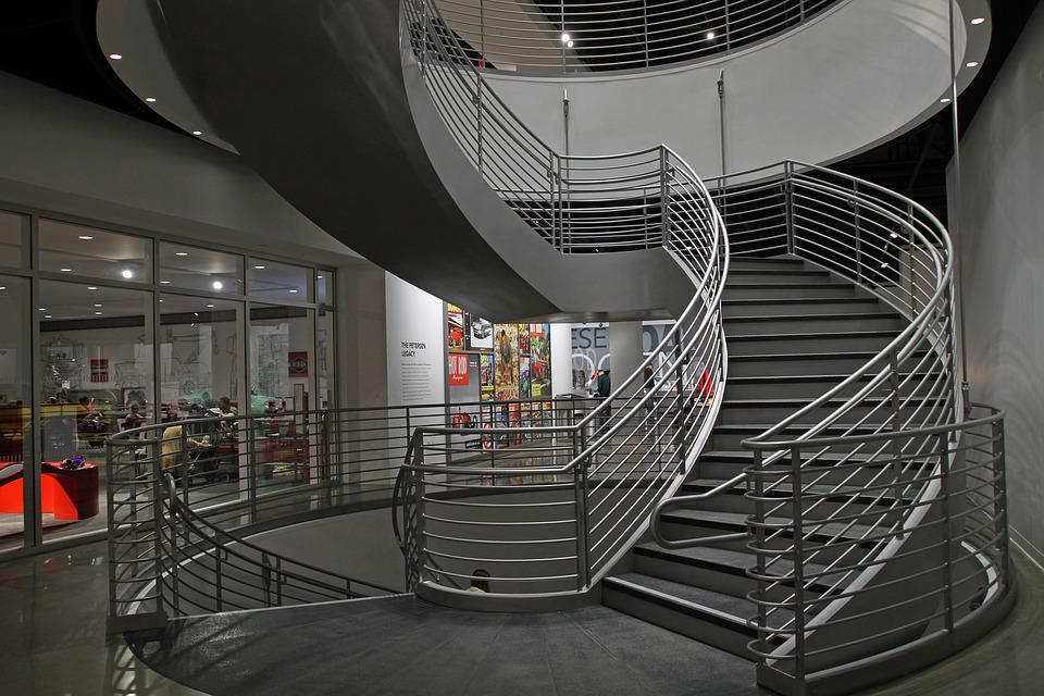 Stairs, Petersen Automotive Museum, Los Angeles