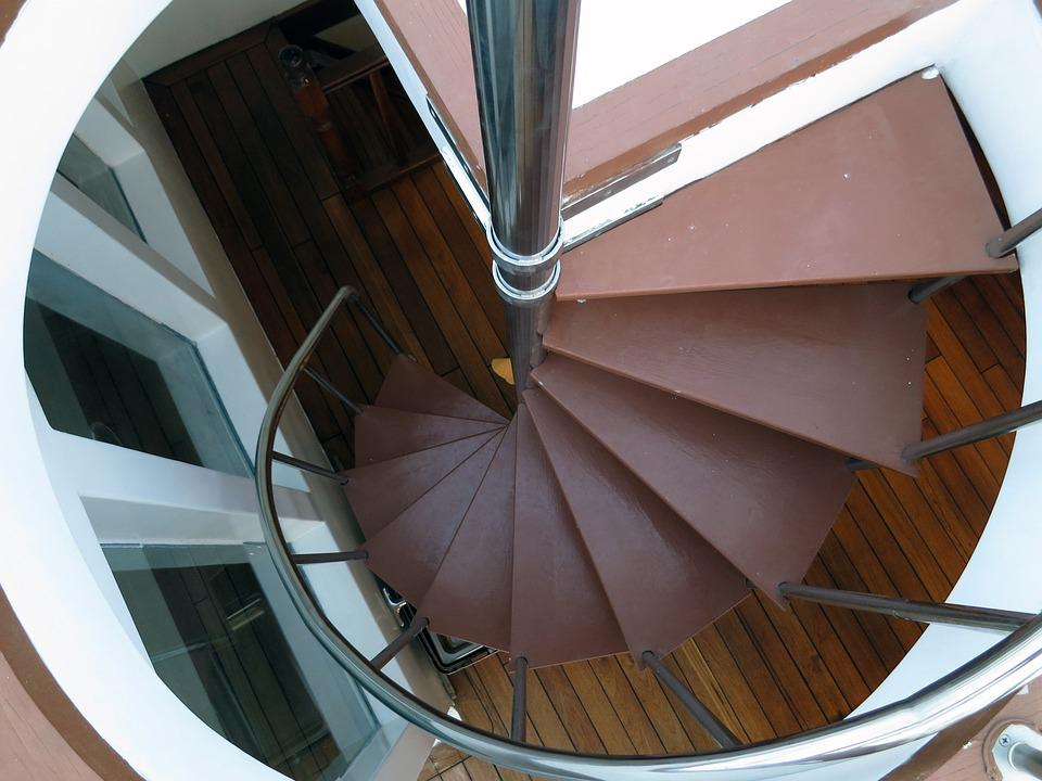 Stairs, Stairway, Staircase, Spiral, Circular
