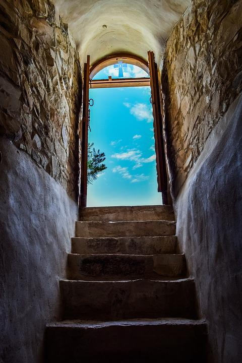 Church, Stairs, Staircase, Stairway To Heaven, Sky