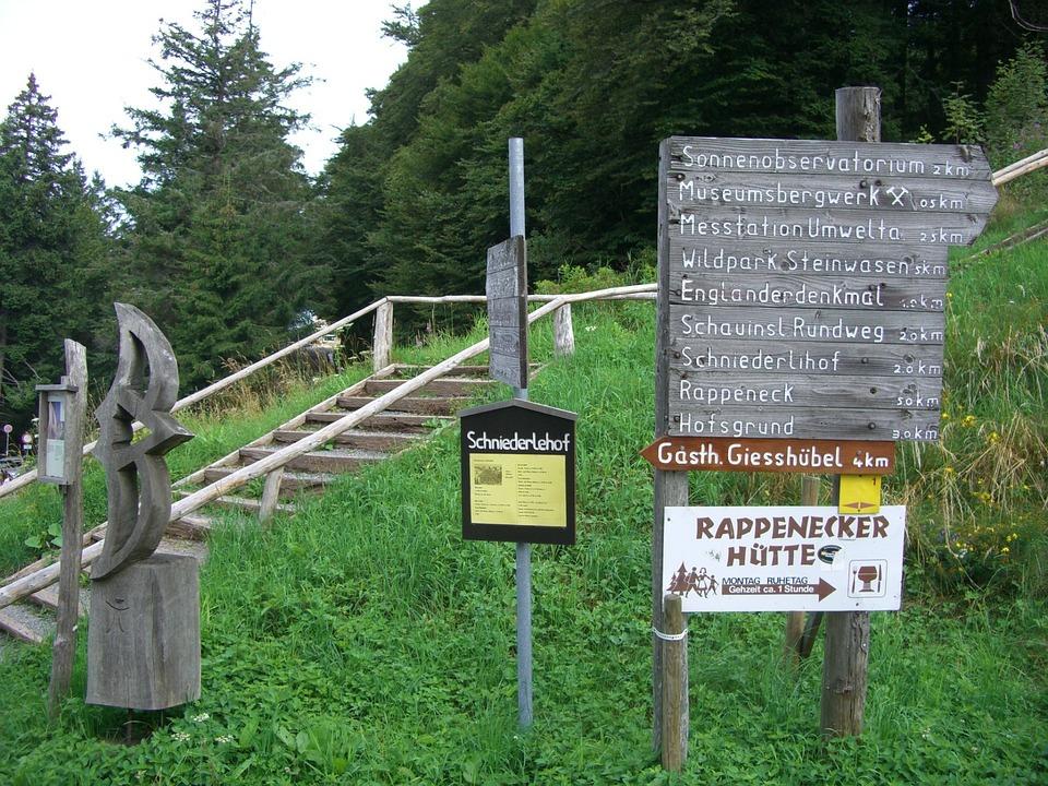 Directory, Schauinsland, Stairs, Rise, Summit
