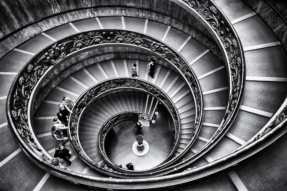 Vatican, Staircase, Graphics, Rome, Stairway, Stairs
