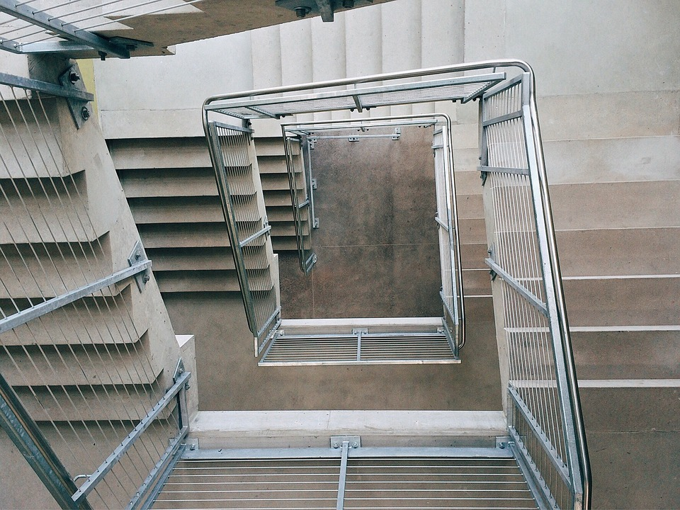 Stairs, Stairwell, Building, Architecture, Structure