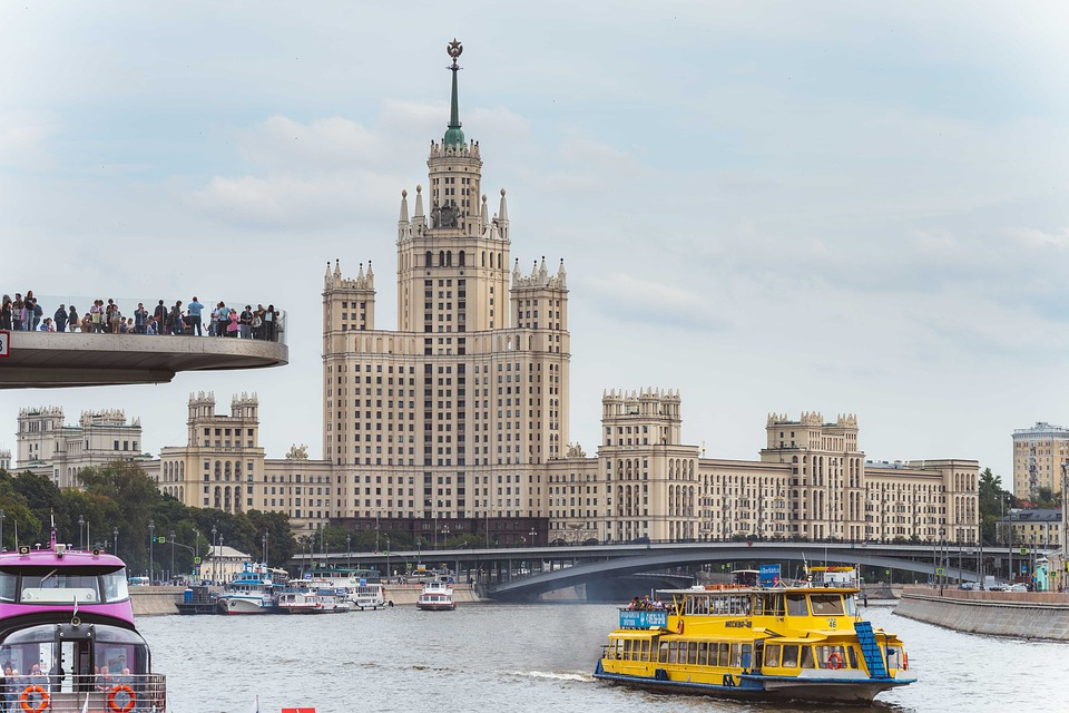 Moscow, Russia, High Rise Building, Stalin