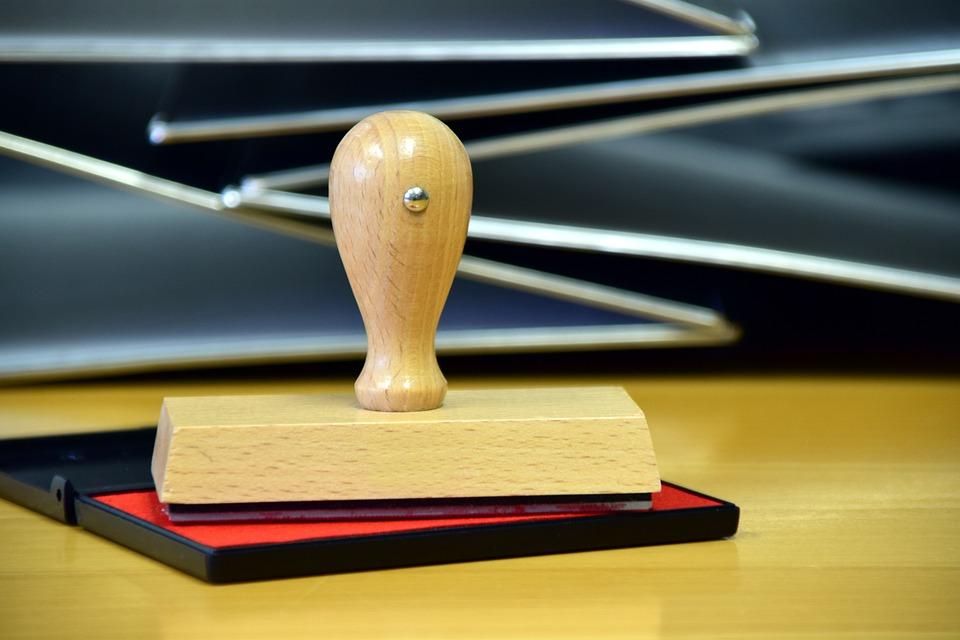 Stamp, Office, Wood Stamp, Stamp Pads, Desk
